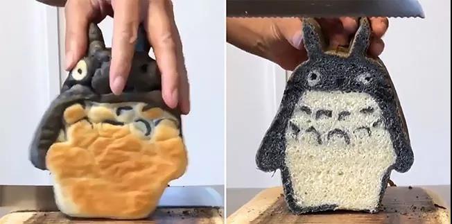 外面看很丑,切开后给人惊喜的动漫角色面包