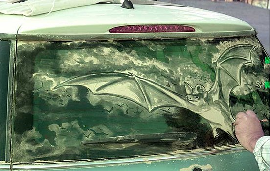 车窗灰作画,艺术无处不在!