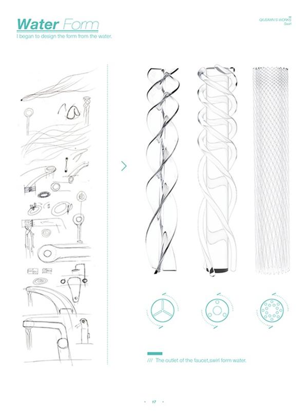 涡轮旋转水龙头设计