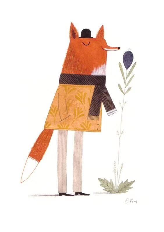 创意绘画冬日里小动物