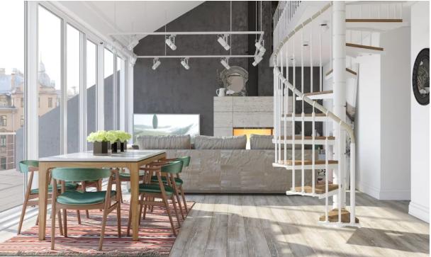 复式loft楼梯怎么设计?国外流行的悬浮式楼梯太惊艳