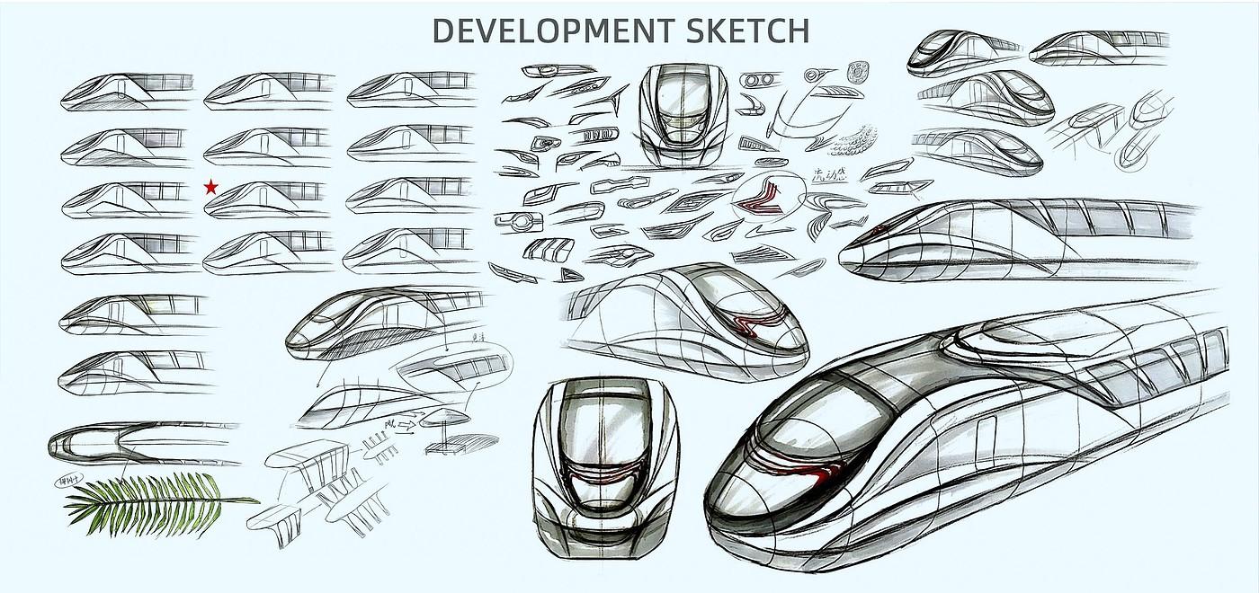 三亚时速160公里城际主题车设计