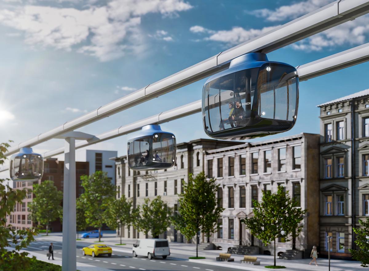 新的交通工具Bosch 迷你空铁