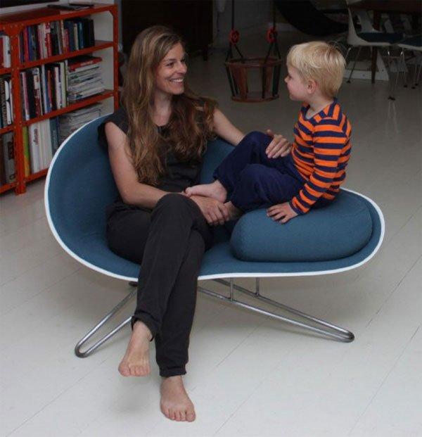 HanneKortegaard设计的蚌形多功能椅子