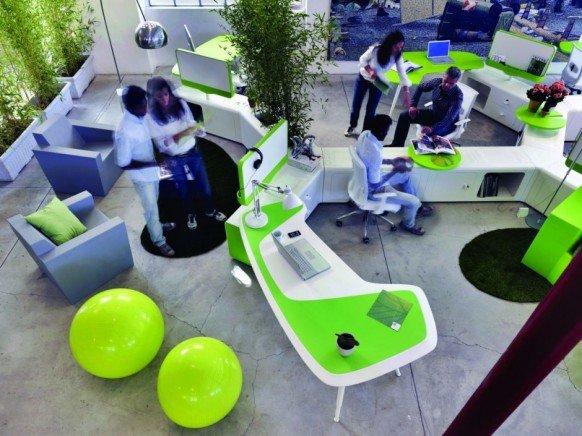 红点获奖作品:Beta绿色概念办公家具组合