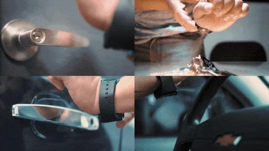 能喷出消毒液的喷雾手环 充满电可喷40次