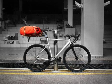 创意自行车后座车架锁