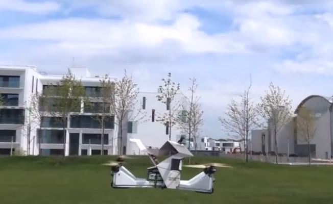 上班不想挤公交,湖南小伙设计出四轴载人飞行器